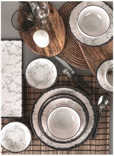 Keramika Keramika Line Yemek/Kahvaltı Takımı 44 Parça 6 Kişilik - 19234 Beyaz